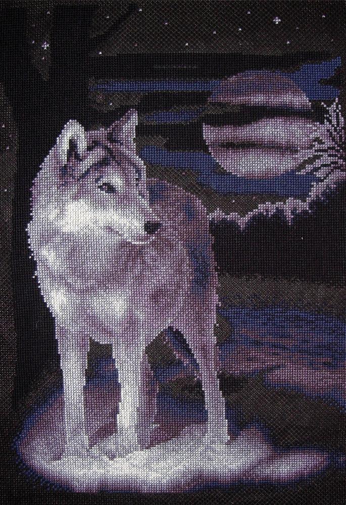 """Купить """"Белый волк"""" от Panna - Животные от Panna - Животные."""