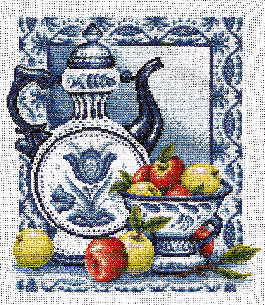 Вышитые картины, изделия из бисера и бусин, вязанные изделия, купить вышивку Наливные яблочки, ГФ-271.